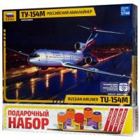 упаковка игры Самолет Ту-154 1:144 подарочный набор
