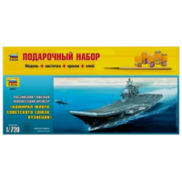 упаковка игры Авианосец Адмирал Кузнецов 1:720 подарочный набор
