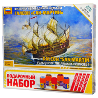 упаковка игры Испанский корабль Сан-Мартин 1:350 подарочный набор
