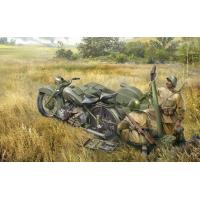 упаковка игры Советский мотоцикл М-72 с минометом 1:35