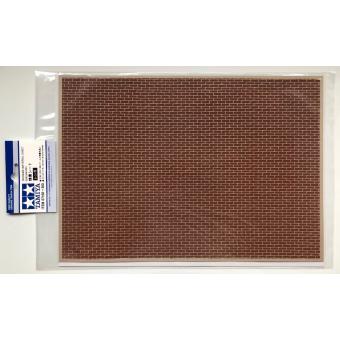 Материал для диорам кирпичная кладка коричневая размер А4