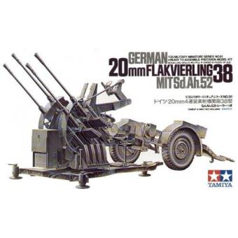 Немецкая пушка 2см FLAKVIERLING 38 1:35
