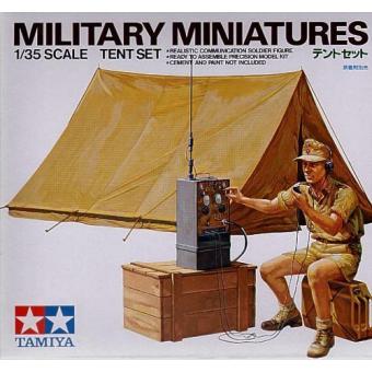 Немецкий радист, ящик, канистра, палатка 1:35
