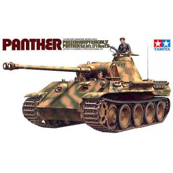Танк PANTHER (Sd.kfz171) Ausf.A с 2 фигурами 1:35