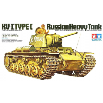 Советский тяжелый танк КВ-1С с 1 фигурой танкиста 1:35