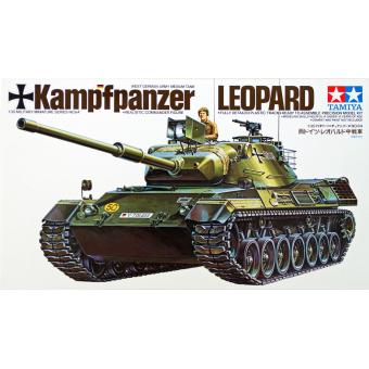 Танк LEOPARD c 105мм пушкой и 1 фигурой 1:35