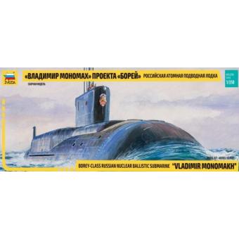 Подводная лодка Юрий Долгорукий проекта Борей 1:350