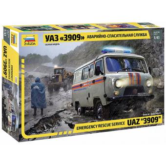 УАЗ 3909 Аварийно-спасательная служба 1:43