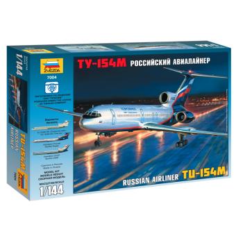 Самолет Ту-154 1:144