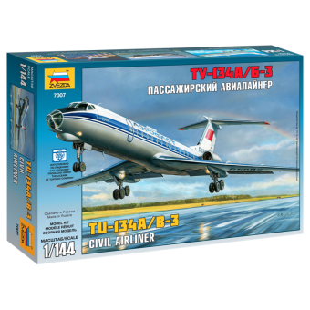 Авиалайнер Ту-134 1:144