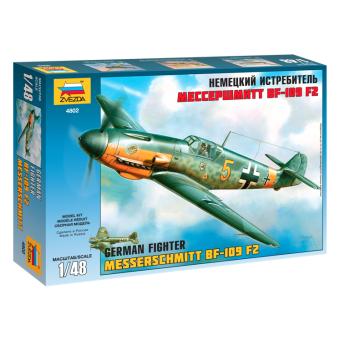 Самолет Мессершмитт BF-109F2 1:48