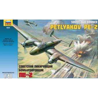 Советский пикирующий бомбардировщик Пе-2 1:48