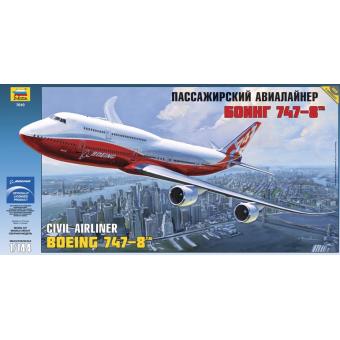 Самолет Боинг 747-8 1:144