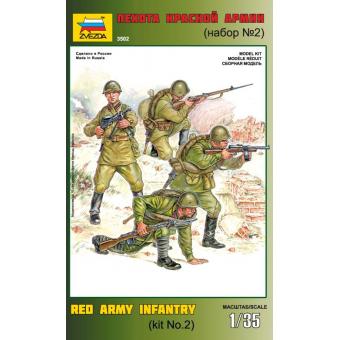 Пехота Красной Армии (набор №2) 1:35