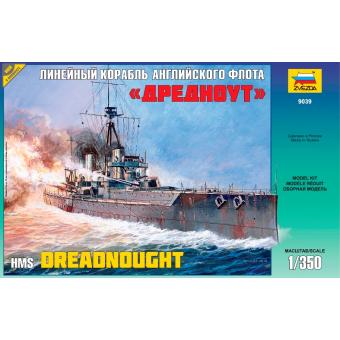 Линейный корабль английского флота Дредноут 1:350