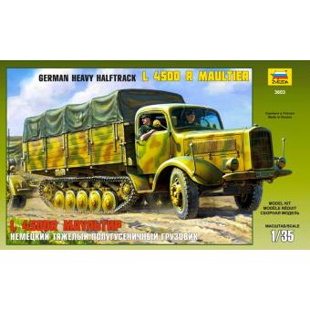 Немецкий тяжелый полугусеничный грузовик Л4500Р Маультир 1:35