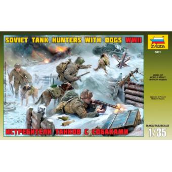 Истребители танков с собаками 1:35