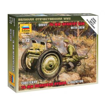 Советская 76-мм полковая пушка 1:72