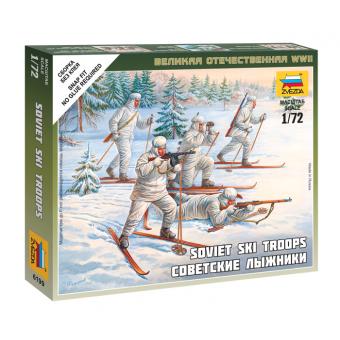 Советские лыжники 1:72