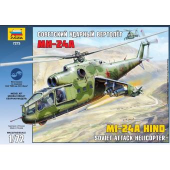 Советский ударный вертолет Ми-24А 1:72