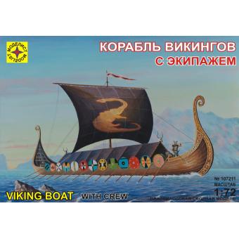 Корабль викингов с экипажем 1:72