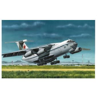 Военно-транспортный самолёт Ил-76 МД 1:144